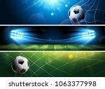 sport football or soccer... | Shutterstock .eps vector #1063377998