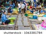 samut songkhram  thailand  ...   Shutterstock . vector #1063381784