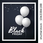 black friday concept with white ... | Shutterstock .eps vector #1063386188