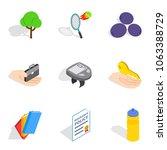 revival icons set. isometric...   Shutterstock .eps vector #1063388729