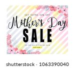 mothers day sale banner... | Shutterstock .eps vector #1063390040