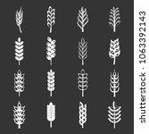 wheat icons set vector white... | Shutterstock .eps vector #1063392143