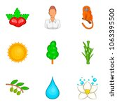 tropical beast icons set.... | Shutterstock .eps vector #1063395500