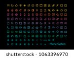 icons phone system symbols | Shutterstock .eps vector #1063396970