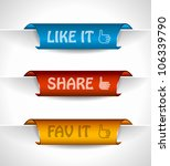 3 paper stickers tag for... | Shutterstock . vector #106339790