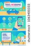 road trip infographic vector ... | Shutterstock .eps vector #1063400333