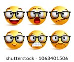 smiley face vector set of... | Shutterstock .eps vector #1063401506