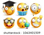 smiley face student vector... | Shutterstock .eps vector #1063401509