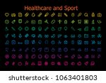 icons healthcare and sport...   Shutterstock .eps vector #1063401803