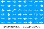 fish icon set. simple set of... | Shutterstock .eps vector #1063403978