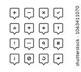 location icons set