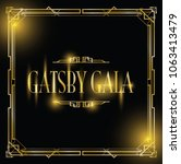 great gatsby gala background | Shutterstock .eps vector #1063413479