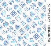 tuberculosis seamless pattern... | Shutterstock .eps vector #1063413740