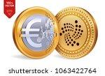 iota. euro. 3d isometric... | Shutterstock .eps vector #1063422764