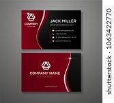 red modern business card... | Shutterstock .eps vector #1063422770