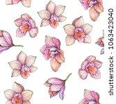 vector vintage seamless pattern ... | Shutterstock .eps vector #1063423040
