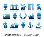 greece icons | Shutterstock .eps vector #106342604