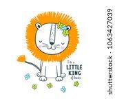 cute lion. vector illustration...   Shutterstock .eps vector #1063427039