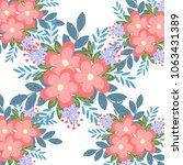 flowers backgrounds  vector | Shutterstock .eps vector #1063431389