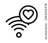 wifi like vector icon