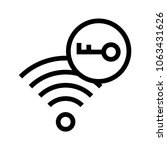 wifi lock vector icon