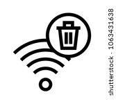wifi delete vector icon