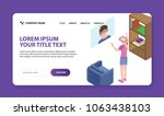 website template hero header....   Shutterstock .eps vector #1063438103