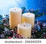 Three Candles In An Advent...