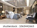 3d rendering beautiful luxury... | Shutterstock . vector #1063442663
