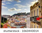 lisbon cityscape  portugal | Shutterstock . vector #1063443014