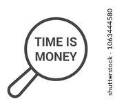 finance concept  magnifying... | Shutterstock .eps vector #1063444580