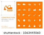 set of 25 universal... | Shutterstock .eps vector #1063445060