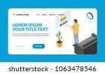 website template hero scene.... | Shutterstock .eps vector #1063478546