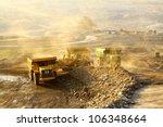 the  trucks at worksite | Shutterstock . vector #106348664