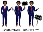 real estate agent in three... | Shutterstock .eps vector #1063491794