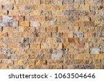 tile  mosaic of stone blocks   Shutterstock . vector #1063504646