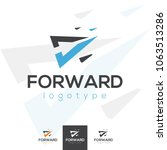 vector forward moving arrow... | Shutterstock .eps vector #1063513286