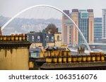 newcasstle city skyline with... | Shutterstock . vector #1063516076