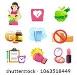 general exercise instructions... | Shutterstock .eps vector #1063518449