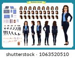 set of businesswoman character... | Shutterstock .eps vector #1063520510