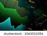 stock market or forex trading... | Shutterstock . vector #1063521056