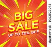 sale banner template design ... | Shutterstock .eps vector #1063523093