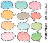 vector set of speech bubbles | Shutterstock .eps vector #1063523360