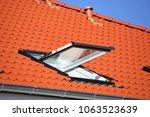 skylight on a residential home  ... | Shutterstock . vector #1063523639