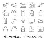 hostel facilities icon set 2.... | Shutterstock .eps vector #1063523849