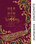 wedding invitation card... | Shutterstock .eps vector #1063524473