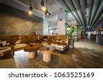 bar restaurant interior in... | Shutterstock . vector #1063525169