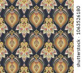 damask style seamless pattern. ... | Shutterstock . vector #1063526180