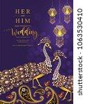 wedding invitation card... | Shutterstock .eps vector #1063530410