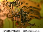 close up electronic components  ... | Shutterstock . vector #1063538618